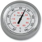 Silver Anodized Snap Back Classic Series Thermometer w/White Face - SB81100