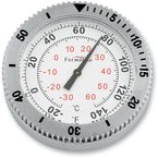 Polished Stainless Steel Snap Back Signature Series White Face Thermometer - SB-85110