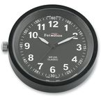 Black Anodized Snap Back Classic Series Clock w/Black Face - SB82000