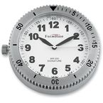 Polished Stainless Steel Snap Back Signature Series White Face Clock - SB-85100