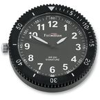Black Chrome Stainless Steel Snap Back Signature Series White Face Clock w/Super LumiNova Treatments - SB85200