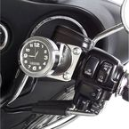 Chrome w/ Black Face Motorcycle Clock - EMC-HD-BL