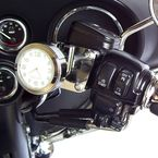Chrome w/ White Face Motorcycle Clock - EMC-HD-WH