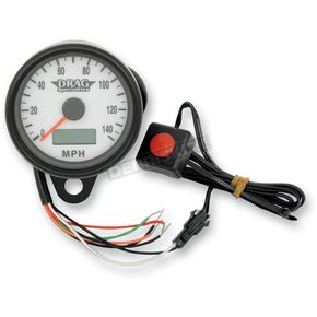 Drag Specialties 2.37 Inch Programmable Mini Electronic Speedometer With Odometer/Trip Meter - 2210-0258