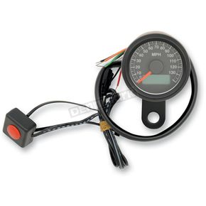 Drag Specialties 1.87 Inch Programmable Mini Electronic Speedometer With Odometer/Trip Meter - 2210-0259