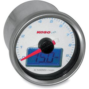 Koso North America DH01 Electronic Tachometer with Oil Pressure Gauge - BB551B20