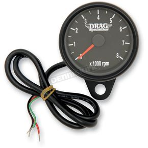 Drag Specialties Black Face 2.4 Inch Mini Electronic Tachometer - 2211-0125
