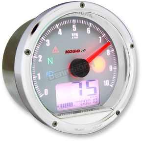 Koso North America Chrome T and T Tachometer/Speedometer - BA035W00