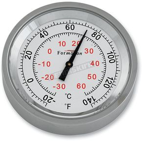 Formotion Silver Anodized Snap Back Classic Series Thermometer w/White Face - SB-81100