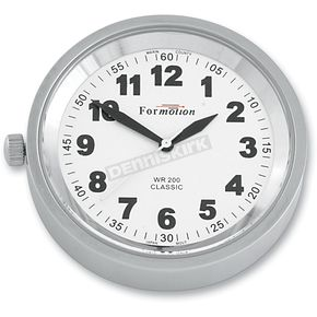 Formotion Silver Anodized Snap Back Classic Series Clock w/White Face - SB-81000