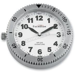 Formotion Polished Stainless Steel Snap Back Signature Series White Face Clock - SB-85100