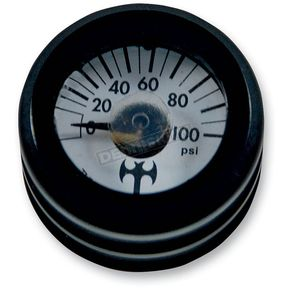 Thunder Cycle Designs Black Mini Oil Pressure Gauge - TC-001B