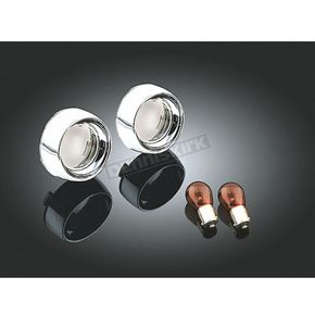 Kuryakyn Deep Dish Bezels with Smoke Lenses and Red Single Bulbs - 2271
