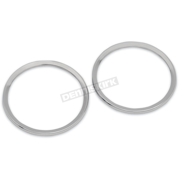Drag Specialties Chrome Billet Speaker Bezels - 2202-0063