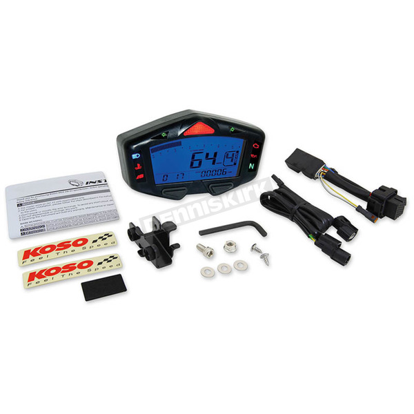 Koso North America Digital LCD Dash Mulit-Meter - BA038900