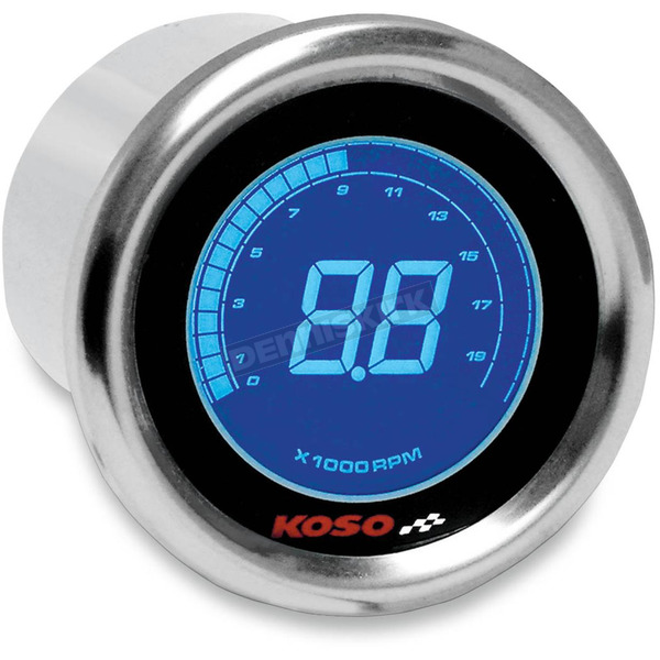 Koso North America Chrome DL-01R Tachometer - BA484B00