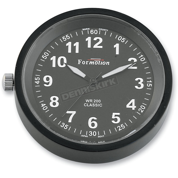 Formotion Black Anodized Snap Back Classic Series Clock w/Black Face - SB-82000