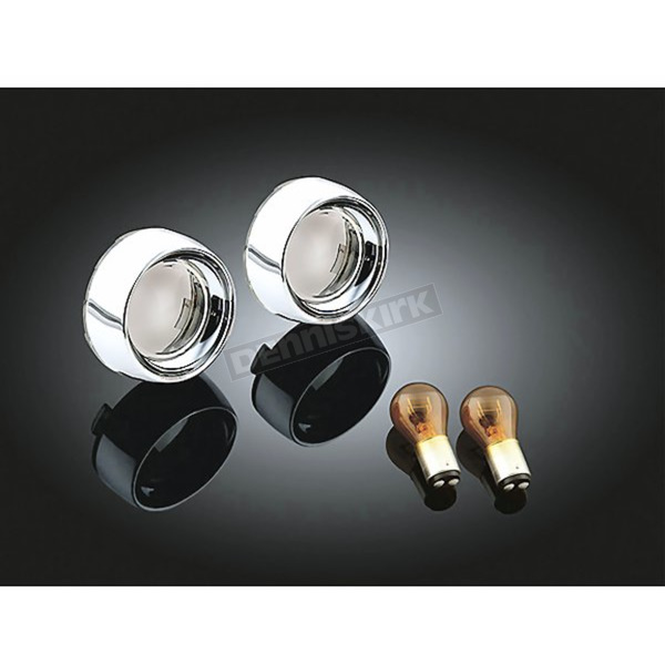 Kuryakyn Deep Dish Bezels with Smoke Lenses and Amber Bulbs - 2270