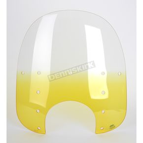 Memphis Shades Memphis Fats Gradient Yellow Windshield Plastic w/9 in. Headlight Cutout - MEP3625