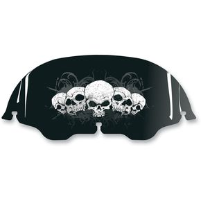 Drag Specialties 8 in. Gray Skull Windscreen - 23100324