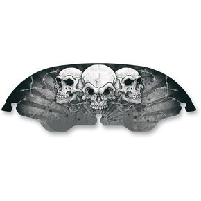 Drag Specialties 6 in. Skullz Windscreen - 23100330