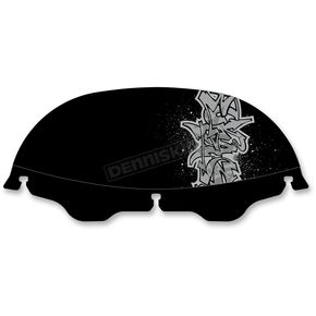 Drag Specialties 6 in. Offset Graffiti Windscreen - 2310-0350