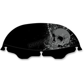 Drag Specialties 6 in. Offset Skull Windscreen - 23100357
