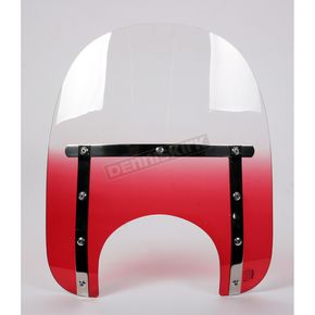 Memphis Shades Memphis Slims 15 in. Gradient Ruby Windshield for Standard 5 3/4 in. - 7 in. Headlights - MEM4112