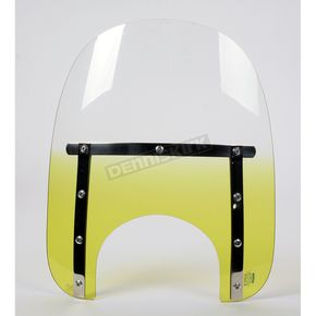 Memphis Shades Memphis Slims 15 in. Gradient Yellow Windshield for 9 in. Headlight - MEM4125