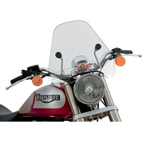 Slip Streamer Clear Spitfire Windshield w/Chrome Hardware - S-06CHR-C