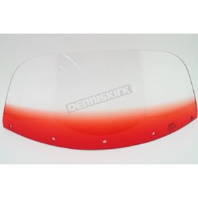Memphis Shades 9 in. Replacement Gradient Ruby Plastic for use with OEM Harley-Davidson Windshield Hardware - MEP8012