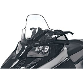 PowerMadd Cobra 19 in. High Black/Clear Windshield  - 12930