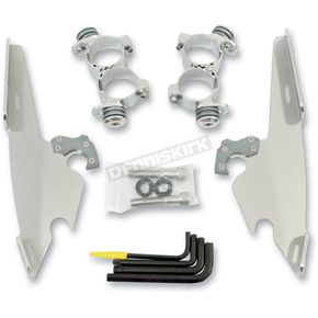 Memphis Shades Polished No-Tool Trigger-Lock Hardware Kits for Fats/Slim or Batwing Fairing - MEK1986