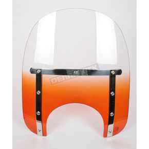 Memphis Shades Memphis Slims 15 in. Gradient Burnt Orange Windshield for 9 in. Headlight - MEM4127