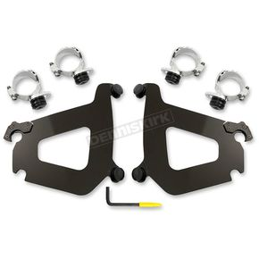 Memphis Shades Black Trigger Lock Mounting for the Bullet Fairing - MEB2010