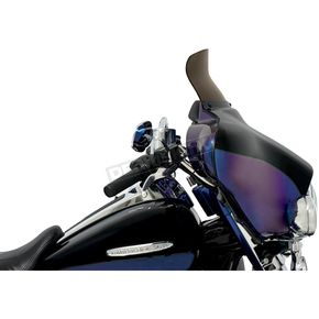 Memphis Shades 6.5 in. Replacement Smoke Spoiler Windshield for OEM FLHT Fairings - MEP8581