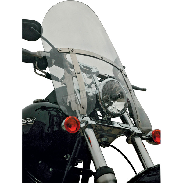 Klock Werks 18 in. Clear Flare Billboard Windshield - 2310-0348