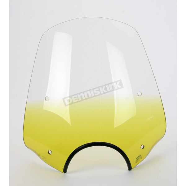 Memphis Shades Pop Top Gradient Yellow Windshield w/7 in. Headlight Cutout - MEP5515
