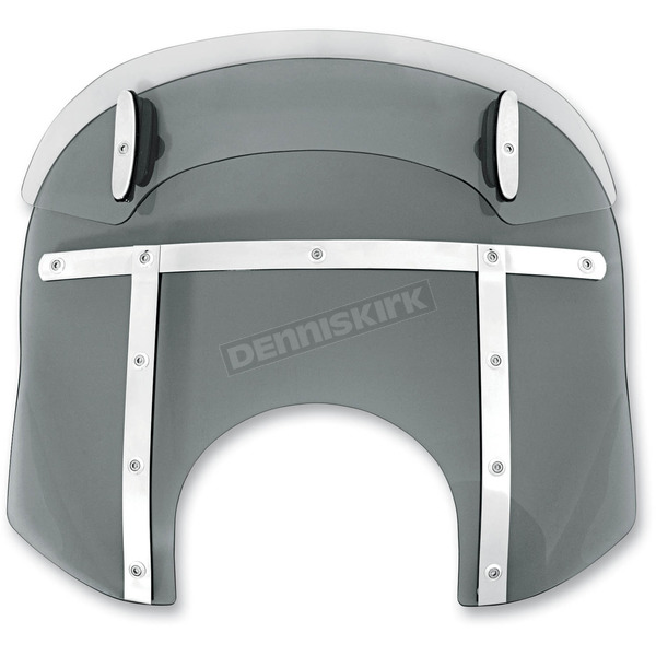 Memphis Shades Ghost Drop Top Memphis Fats 15-18 in. Windshield for 9 in. Headlights - MDM31708