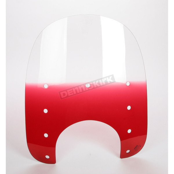 Memphis Shades Memphis Slims Gradient Ruby Windshield Plastic w/9 in. Headlight Cutout - MEP4122