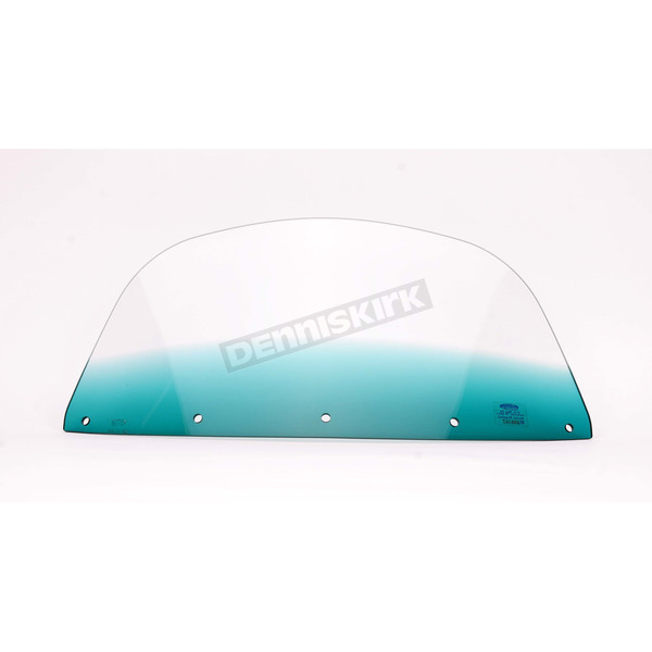 Memphis Shades 7 in. Replacement Gradient Teal Plastic for use with OEM Harley-Davidson Windshield Hardware - MEP8043