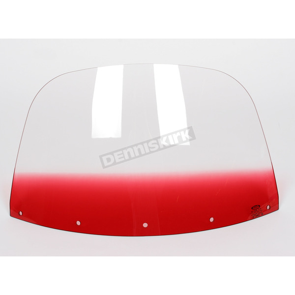Memphis Shades 12 in. Replacement Gradient Ruby Plastic for use with OEM Harley-Davidson Windshield Hardware - MEP8022