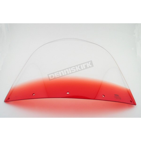 Memphis Shades 15 in. Replacement Gradient Ruby Plastic for use with OEM Harley-Davidson Windshield Hardware - MEP8032
