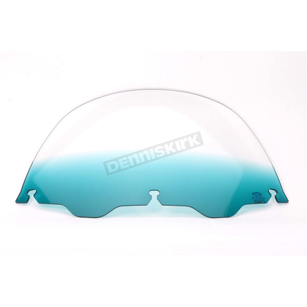 Memphis Shades 7 in. Replacement Gradient Teal Plastic for use with OEM Harley-Davidson Windshield Hardware - MEP8143