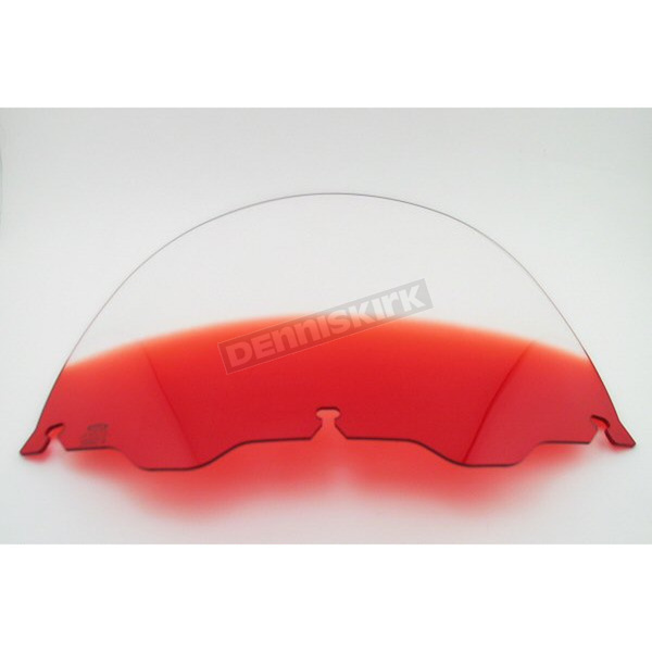 Memphis Shades 12 in. Replacement Gradient Ruby Plastic for use with OEM Harley-Davidson Windshield Hardware - MEP8122