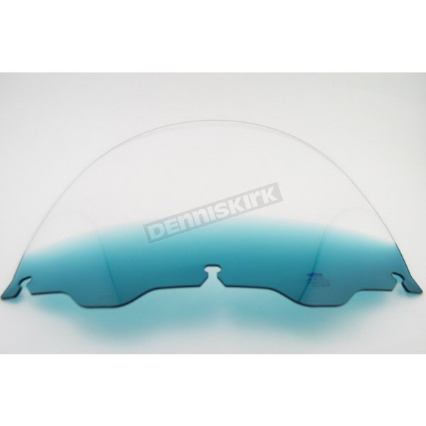 Memphis Shades 12 in. Replacement Gradient Teal Plastic for use with OEM Harley-Davidson Windshield Hardware - MEP8123