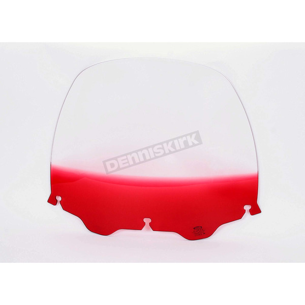 Memphis Shades 15 in. Replacement Gradient Ruby Plastic for use with OEM Harley-Davidson Windshield Hardware - MEP8132