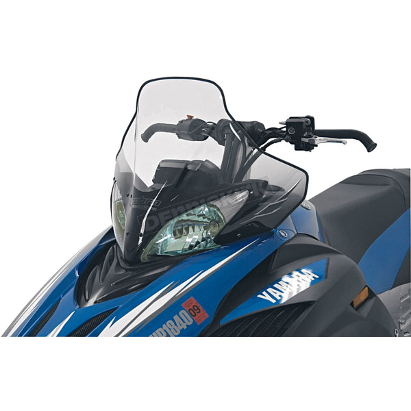PowerMadd Cobra 20 in. Medium Clear/Black Windshield  - 15631