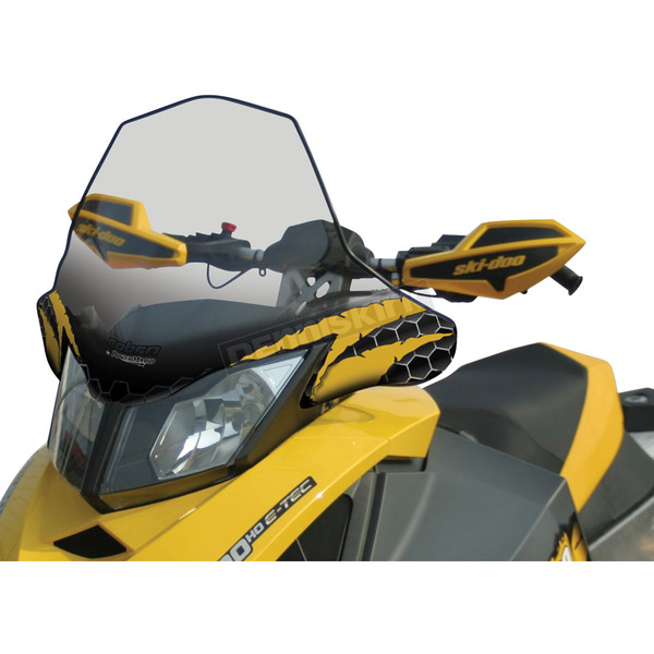 Cobra 17 1/2 in. Clear w/Black and Yellow Graphic Windshield  - 10343011