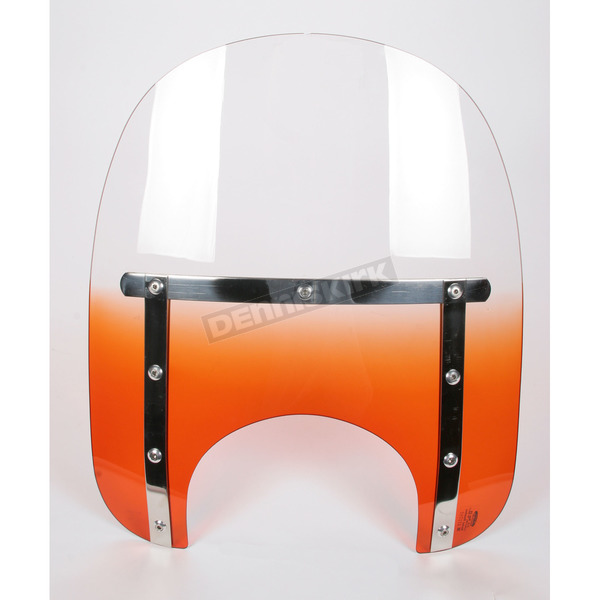 Memphis Shades Memphis Slims 17 in. Gradient Orange Windshield with 5 3/4 in. - 7 in. Headlight Cutout - MEM4217